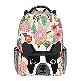 Dujiea 17 Inch Backpack Boston Terrier Dog...