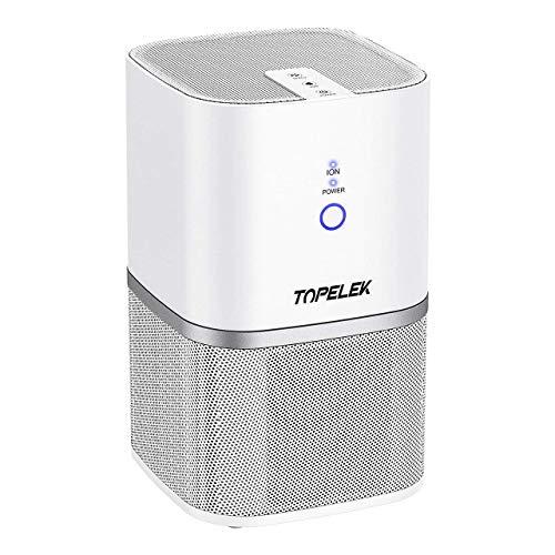TOPELEK Luftreiniger Air Purifier mit Vorfilter, HEPA-Filter, Aktivkohlefilter Luftreiniger für 99,97{32bfac89418bdbf48e0d826a8c00304a0942d38082145c8ad83c12da71e8e995} Filterleistung Sauberer und Frischluftproduzent für Geruch,Allergien,Rauch,Staub,Schimmel Pollen.