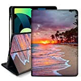 Ademen for iPad Air 4th Generation Case 2020,10.9 inch iPad air 4 Case with Pencil Holder Slim Smart Stand Protective Cover Cases for iPad Air 10.9 inch 2020,Auto Sleep/Wake Cover(Beach and Sunset)