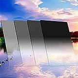 ZOMEi Kit de filtres de densité Neutre carrée Gradué Gris: ND2 + ND4 + ND8 + ND16 pour Cokin série Z -100 * 150mm