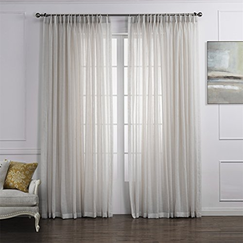 Pinch Pleated Sheer Draperies - 2