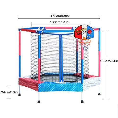 Yshca 68-inch trampoline, fitness trampoline, met veiligheidsnet, voor kinderen