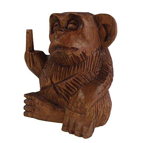 maDDma ® AFFE Fuck You mit Stinkefinger, aus Soar-Holz, Verschiedene Größen, Größe:2