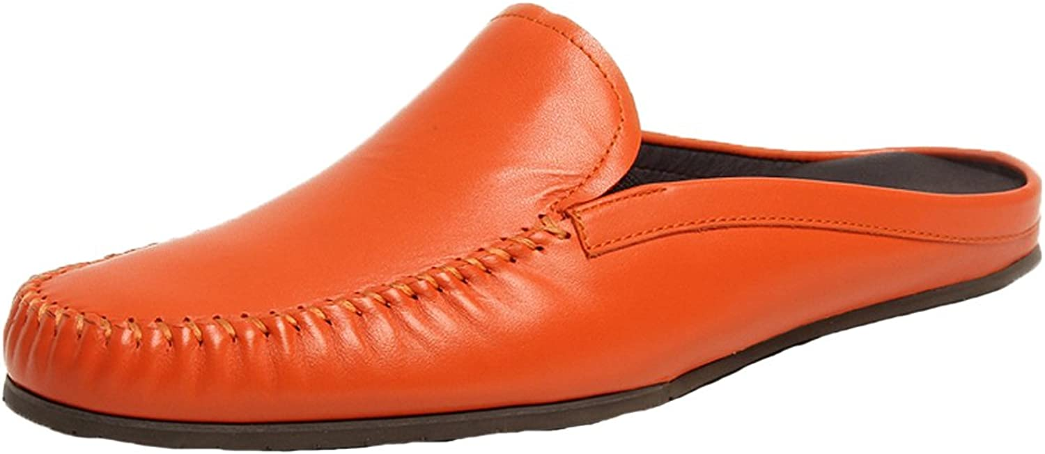 Santimon Mens Mules Clog Slippers Comfortable Leather Slip on shoes Casual Loafers