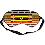 Sleeping Mask,Uganda Flag Super Smooth Eye Covers Para El Trabajo De Turno De Vuelo A Casa