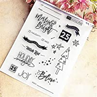 14x18cm美しい願い透明クリアスタンプシリコンシールローラースタンプDIYスクラップブッキングpoアルバム/カード作成