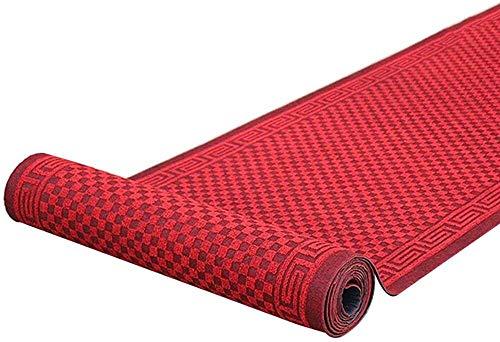 Korridor Teppichläufer rechteckig Teppich für Flur Küche Eingang Passage Absorption rutschfeste Indoor Outdoor Teppich Größe: 0.6x1 / 0.9x6m Hall Rugs (Color : Red, Size : 1.6x6m)