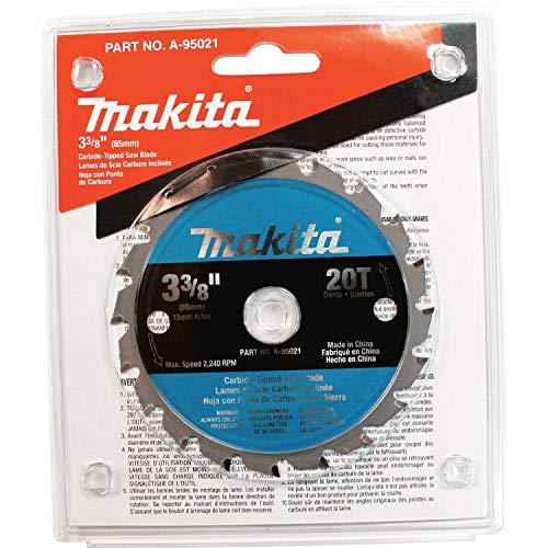 """MAKITA 3-3/8"""" CARBIDE TIPPED BLADE F/5090 15MM ARBOR-, A-95021"""