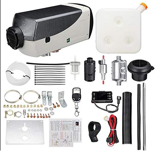 WHWXQ Diesel luchtverwarmer, autoverwarming, met afstandsbediening, LCD-display en geluidsdemper, staande verwarming voor boten
