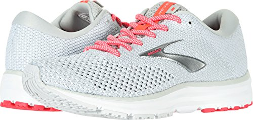 Brooks Womens Revel 2 Running Shoe - Grey/White/Pink - B - 7.5