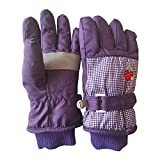 Aniywn Kids Waterproof Ski Snowboard Gloves,Kids Winter Gloves Waterproof Warm Snow Mittens Full Finger Gloves
