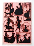 """Stamp sheet measures 7"""" x 10"""" (17x25cm). Total 8 individual stamps. Size of largest stamp about 2.5""""x3.5"""" (65x90mm, ATC size) Works great with any inks (dye, pigment, oil) and any clays on any surface (paper, fabric or plastic). Red colour for better..."""