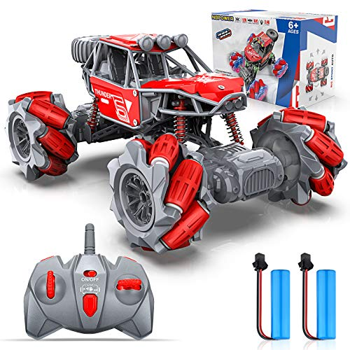 RC Cars, NBPOWER 4WD 2.4GHz ON/Off-Road Remote Control Car Trucks Monster, 20 KM/H RC Trucks with 2 Batteries Long Race Play for Boys Kids Teens and Adults