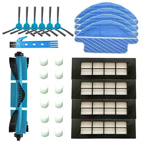 DOKKOO Accesorios para Cecotec Serie Conga 3090 con Cepillo Principal, Cepillos Laterales, Filtros HEPA y Mopas para Robot Aspirador Conga 3090.