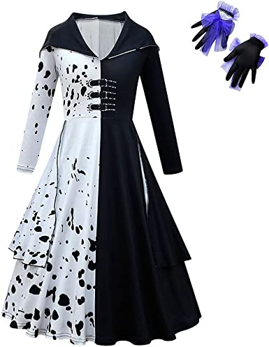 Amazon.com: Girls Deville Costume Dress Cosplay Outfits with Gloves :  Clothing, Shoes & Jewelry
