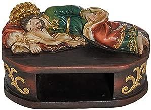 Autom Sleeping St Joseph with Shelf Base for Rosary Saint Statue 6 Inch