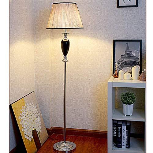 CLJ-LJ Led europäischen Stil Retro-Stehlampe, kreative Wohnzimmer Kristall Stehlampe, Nostalgic Black Lichter Eye-Pflege Vertikal-Fußboden-Licht