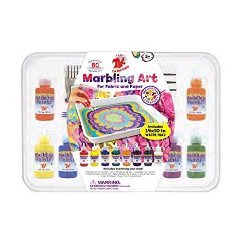 TBC The Best Crafts 33 Wasser marmorierung Malerei, 8 Marmorierung-Patronen (53ml jeder), Kunst des Malens auf dem Wasser, Marmorierfarbe kreativ Spielzeuge & Geschenke, Wassertransferfarben