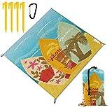 nolyxici coperta da picnic,surf hawaiani della spiaggia su stile esotico dell'annata di sport di vacanze estive della sabbia,coperte da spiaggia all'aperto tappetino impermeabile