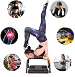 Liusin Yoga Headstand Bench Stand Yoga Chair Balanced Body Yoga Inversion Chair Practice Head Stand, Shoulderstand, Handstand for Family Workout Fitness and Gym (H-Black)