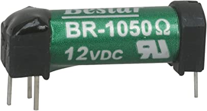 """Bestar Electric BR-1050-VP Reed Relays, SPST-NO, 0.5A, 12VDC, 1050 Ohm, Through Hole, 1"""" L x 0.37"""" W x 0.38"""" H (Pack of 2)"""