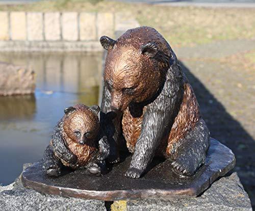 H. Packmor GmbH Décoration de jardin en bronze avec motif panda