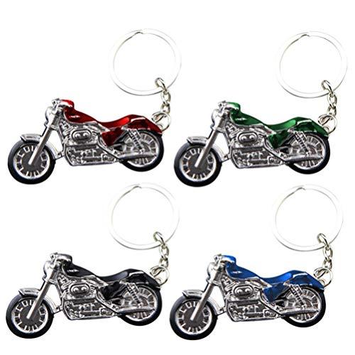 IMIKEYA 4 Piezas Llavero de Metal de Motocicleta Regalo...