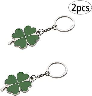 BinaryABC Shamrock Keychain Keyring Charm Pendants,Fortune Keychain,St.Patrick Day Gift,2Pcs