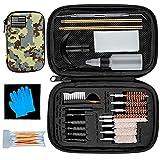 klola 9mm Gun Cleaning Kit with Camouflage Zippered Case, Pistol Cleaning Kit for 9mm .22 .357 .38 .40 .45 Caliber Handgun Great Gift for Men Women Husband Boyfriend
