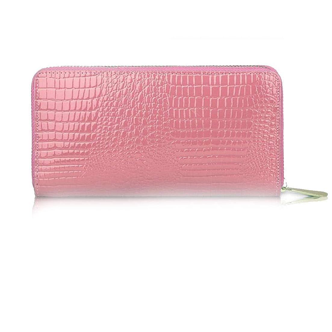 の大騒ぎ災害クラッチバッグハンドバッグパテントレザーの女性の財布の長いジッパーのハンドバッグ大容量の携帯電話バッグ韓国語バージョンの財布学生財布