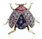 Sxuefang Broche Personalidad Dos Colores de Parquet Escarabajo Broche Macho y Pin Hembra Insectos Collar Aguja