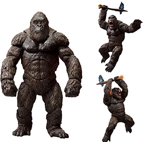 hqycjyoe Godzillas Vs King Kong Movie Action Figure 2021 PVC Gelenke Lebensechtes Bild Spielzeug Modell Dekoration König der Monster Kinderspielzeug Geschenk 18Cm