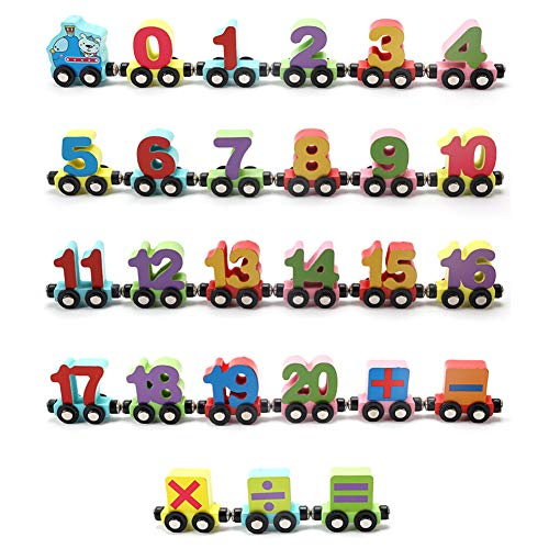 Find Bargain ocijf179 27Pcs/Set Magnetic Number Alphabet Animal Mini Train Cars Education Kids Toy,P...