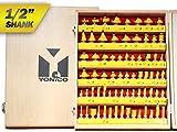 Yonico 17702 70 Bit Router Bit Set 1/2-Inch Shank