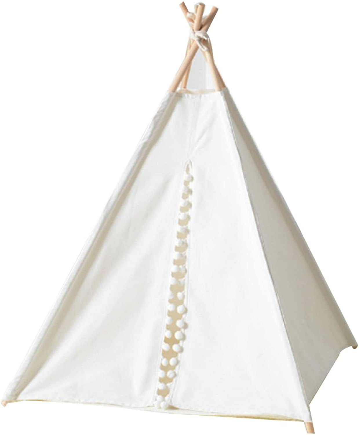 AYCC Pet Tents, Indoor And Outdoor Tents, 5 Loose Poles And Plain White Floor Mats, Removable, Foldable, 100% Cotton,S