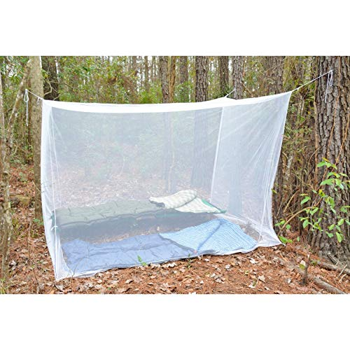 Ultimate Survival Technologies Camp Mosquito Net Double Rectangular White Mesh