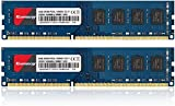 Kuesuny 16GB Kit (2x8GB) DDR3L PC3L-12800U 1600MHZ PC3L-12800 DDR3L 1600 UDIMM 1.35V/1.5V 240Pin Non-ECC Unbuffered 2RX8 CL11 Dual Rank Desktop Memory RAM