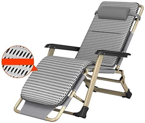 CAJOLG Tumbona Plegable Patio, Tumbonas reclinables, sillas Plegables de jardín reclinables Playa al Aire Libre con Almohadas Asiento...