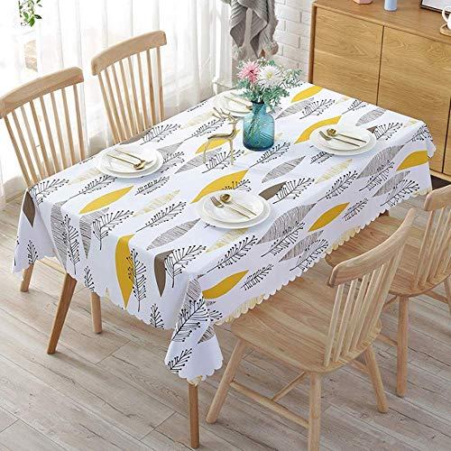 XIAOE Manteles Rectangular Wipe Clean Table Cover PVC Fabric Wipe Impermeable A Prueba de Aceite Espesar Mantel Impreso Sala de Estar Restaurante al Aire Libre Boda Mesa de Comedor 120 * 170cm
