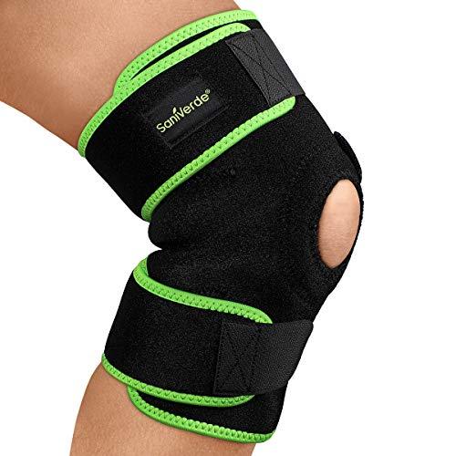 SaniVerde® Kniebandage mit Klettverschluss für Damen und Herren - Stabilität & Support von Knie und Meniskus beim Sport, Knie Bandage mit flexibler Größe