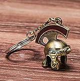 Más Reciente Vintage Italia Roman Knight Casco Llavero Retro Casco Romano Llavero Llavero Roman Centurion Casco Llavero Anillo como Regalo