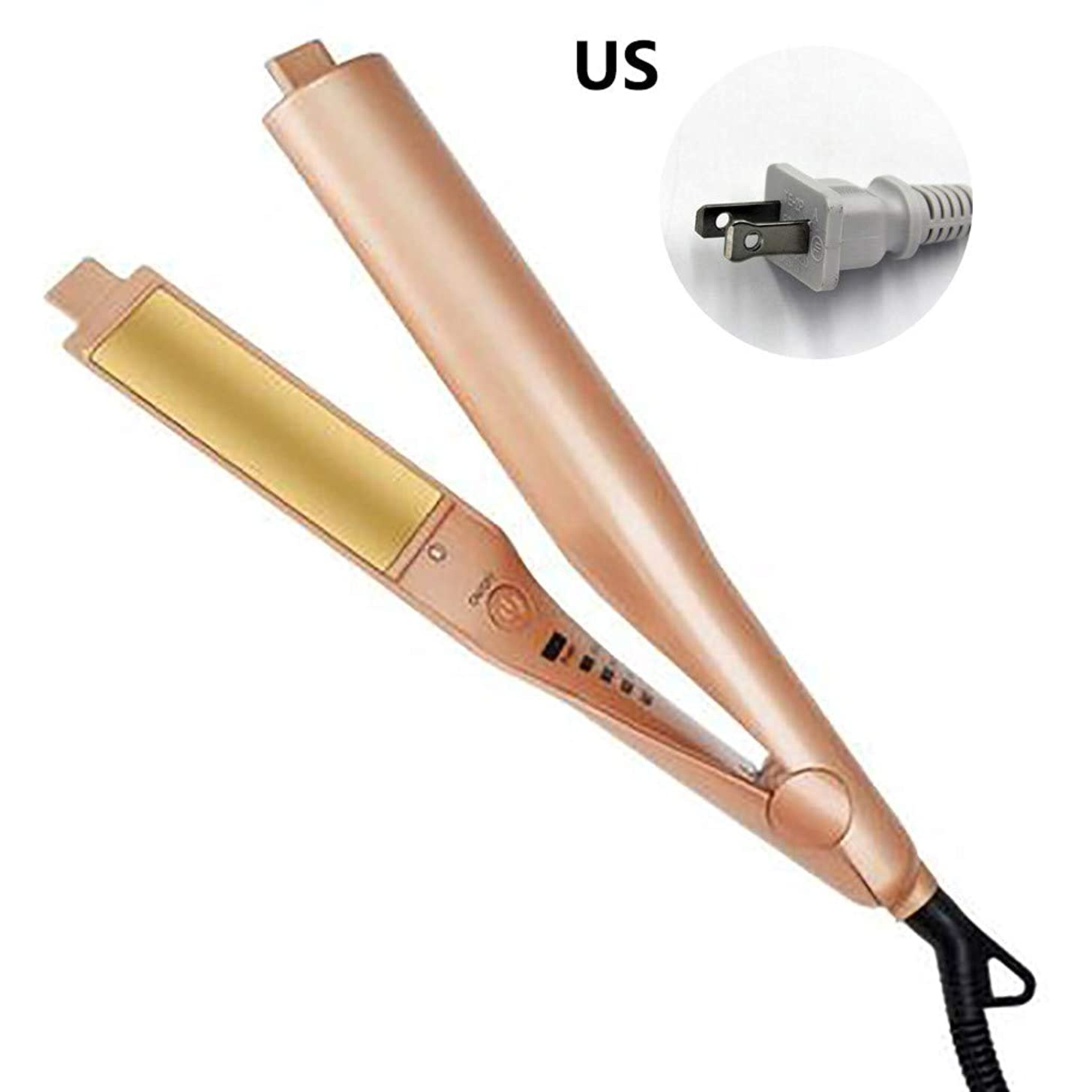 Hoshell_Beauty Hair Curler,??Hoshell?? Hair Curler Iron for Hair Straightening Ceramic Plate with Auto Shut Off