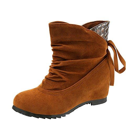 Stiefel Damen, LANSKIRT Flache Slip-On Wedges Ankle Boots Stiefeletten Halbschaft Stiefel Plateau Blockabsatz Knöchelhohe Stiefel Boot Sandalen Sneakers Schuhe