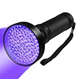Black Light UV Flashlights, 99 LED 395 NM Ultraviolet Blacklight Detector for Home Hotel Dogs Cat Pet Urine Dry Stains Bed Bugs Mold Counterfeit Money Leaks Passport Cosmetic Inspection