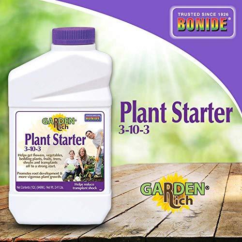 Bonide 037321001614 161 Plant Starter 3-10-3 Concentrate, 1-Quart, Multicolor