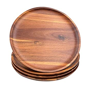 Best round wood plates Reviews