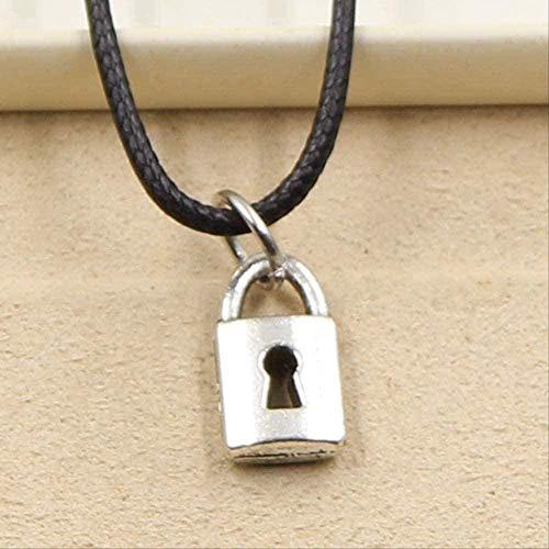 niuziyanfa Co.,ltd Necklace Fashion Lock Pendant Necklace Women Jewelry Black Leather Punk Gothic Choker Leather Necklace Friendship Gift