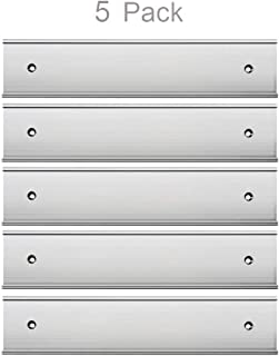 """Nameplate Holder Wall or Door 5Pack (Silver, 2"""" × 8"""")"""
