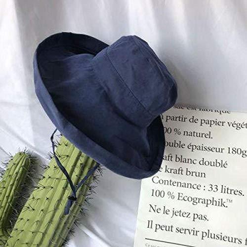 IFMASNN Damen Sonnenhut Sommer Faltbarer Baumwollhut mit breiter Krempe Lady Beach Hat - UPF 50 - Faltbar und verstellbar