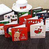 クリスマスカードセット BEMOTION 祝いカード 贈り物 プレゼントカード 20枚入り 2つ折り 中紙・封筒付き かわいい (A)